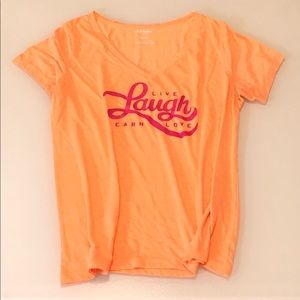 OLD NAVY LIVE LAUGH LEARN LOVE TEE SZ XL